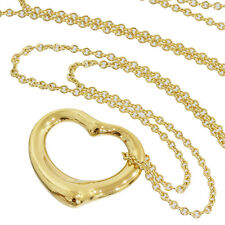 Tiffany & Co. Elsa Peretti Open Heart Pendant Necklace in 18k Yellow Gold D1559