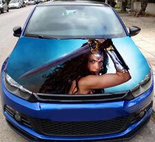 Wonder Woman Full Color Sticker Car Hood Vinyl, Car Graphics Decal Wrap MH96