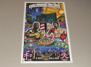 RARE - FLOYD MAYWEATHER JR. VS. MANNY PACQUIAO  - Hand-Drawn POSTER