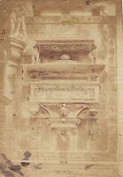 Santa Maria Dei Frari Tombeau Venezia Italia Vintage Albumina Ca 1860