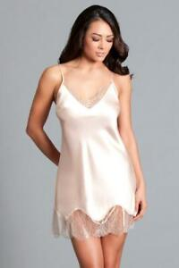 sexy BE WICKED satin CHANTILLY lace FLOWY slip SHORT mini DRESS chemise LINGERIE