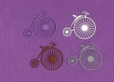 BICYCLE Old fashioned die cuts scrapbook cards