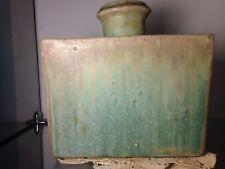 Art POTTERY Mid Century signed rare bottle Vase slip