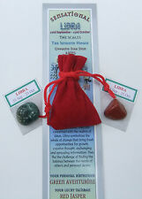 "Libra-bookmark-birthstones-red Velvet Pouch - ""Astrology il codice segreto"" LIBRO"