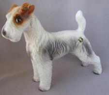Rare Vintage Keramos Glass Porcelain Wire Hair Fox Terrier Wien Austria Vienna
