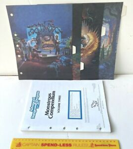 ADVANCED DUNGEONS & DRAGONS MONSTROUS COMPENDIUM V-3 FORGOTTEN REALMS + DIVIDERS