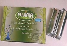 Box of 20 (2 rolls) Fujima BAMBOO Charcoal Disc for Hookah or Resin Incense 33mm
