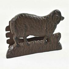 Vintage Primitive Country Cast Iron Ram Sheep Napkin Holder New