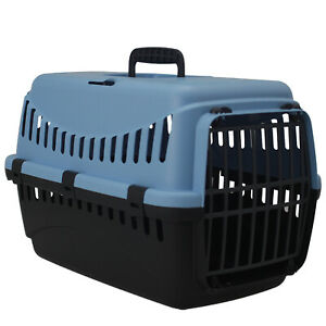 Blue Portable Pet Carrier Cat Puppy Travel Cage Dog Carry Basket Transporter Box