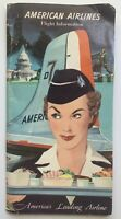 Vintage BROCHURE: 1950s American Airlines - Flight Information