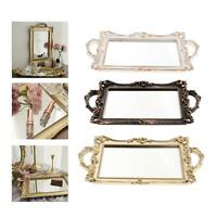 Vintage Mirrored Tray Cosmetic Vanity Jewelry Organizers Storage Serving Tray