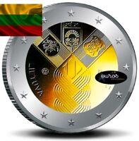 Pièce 2 euros commémorative LITUANIE 2018 - Indépendance des Etats Baltes - UNC