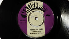 """Ronnie Davis -World Is a Stage/Roots Reggae 45"""" NationWide Label Orig UK 1970's"""