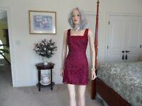 New BEBE Burgundy Lace Sheath Dress Size 4