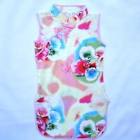 Kids Floral Sleeveless Cheongsam Baby Child Dress Chinese Qipao Girls Dress