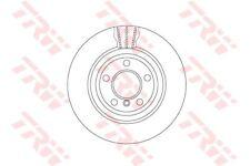 DF6617S TRW Brake Disc Rear Axle