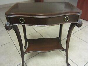 Prestige Art Deco Antique Mahogany End Table Graceful Lines Circa 1930's