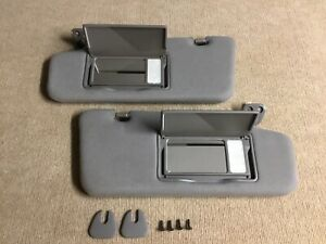 2003-2008 Nissan Murano Sun Visors GREY Lighted Sunvisors Set OEM