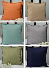 Aiking Home Solid Faux Linen Throw Pillow COVER, Multi Size & Color