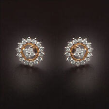 0.58 Cts Round Brilliant Cut Natural Diamonds Stud Earrings In Fine 18Carat Gold