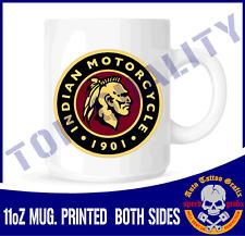 INDIAN MOTORCYCLE TEA COFFEE MUG CUP WORKSHOP GARAGE OFFICE BIKE COOL GIFT