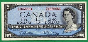 1954 5 dollar  Five dollars  Beattie Rasminsky