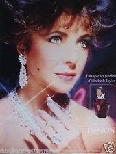 PUBLICITÉ 1998 ELIZABETH TAYLOR EAU DE PARFUM PASSION - ADVERTISING