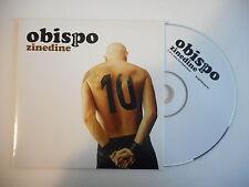 PASCAL OBISPO : ZINEDINE [ PROMO CD SINGLE PORT GRATUIT ]