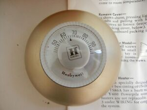 1950's   HONEYWELL MERCURY POWEPILE THERMOSTAT TS86A2  - NEW OLD-STOCK