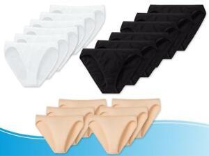 6er Pack SCHIESSER ESSENTIALS Damen Rio Slip schwarz, weiß oder sand