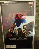 A-Force (Marvel, 2016) #1 Hughes Hip-Hop VariantN.W.A Straight Outta Compton
