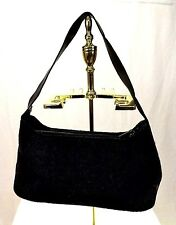 Claudia Womens Handbag, Black Charcoal Gray Shoulder Bag, Leather Purse Italy