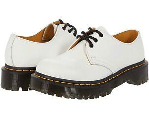 Women's Shoes Dr. Martens 1461 BEX 3 Eye Leather Platform Oxfords 26654100 WHITE