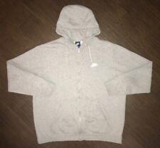 Men's Nike Full Zip Hoodie Sweatshirt Size 2XL Gray
