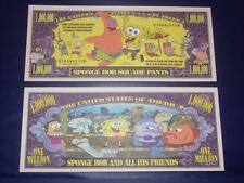 BEAUTIFUL SPONGEBOB  NOVELTY NOTE ONLY .25 SHIPPING FREE SHIP + FREE NOTES!