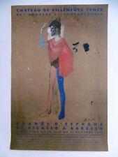 PICASSO Pablo Affiche originale 99 Le Saltimbanque Vence Espagne Cubisme