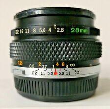 Olympus OM-System Zuiko MC Auto-W 28mm f/2.8 Prime Lens