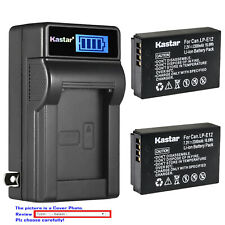 Kastar Battery LCD Wall Charger for Canon LP-E12 LC-E12 Canon PowerShot SX70 HS