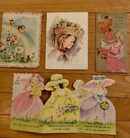 Vintage Birthday Cards, used, 50 years old, lot of 4, 1970