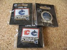 3 - Different 2015 Stanley Cup Playoffs pins NHL Vancouver Canucks pin