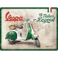 Vespa Roller Italian Legend Nostalgie Blechschild 40 cm NEU shield
