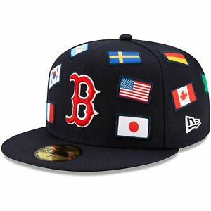 New Era 59Fifty Fitted Cap - FLAGGED Boston Red Sox navy