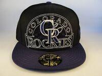 MLB Colorado Rockies New Era 59FIFTY Fitted Hat Cap New Mixin Black Purple