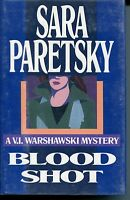 Sara Paretsky Blood Shot VI Warshawski Signed Autograph 1st Edition Book GA COA