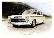 Ford Lotus Cortina Jim Clark Colin Chapman 1964 MK1 Nuevo Arte Pintura Impresión Dugan