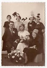 PHOTO ANCIENNE Fête de Sainte Catherine Catherinettes Fleurs Chapeau Vers 1930