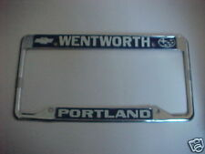 nice Chevrolet OLD Metal License plate frame topper tag Portland OR embossed