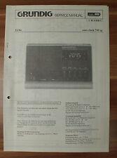 Dispositivo musicale sono-clock 710sp Grundig Service Manual Istruzioni di servizio