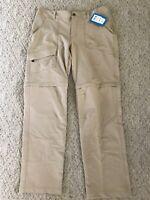 NWT Columbia Convertible Hiking Pants Kestrel Trail Size 12 Regular Tan Biege