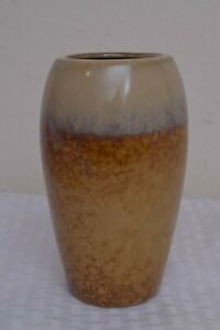 """Ashland Home Collection 6"""" Glazed Tans & Browns Pottery Vase"""